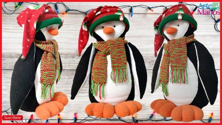 Pingüino Navideño, paso a paso Vídeo y moldes