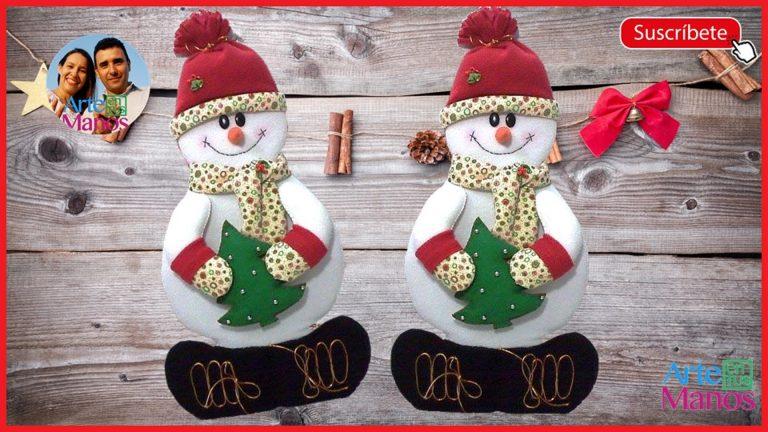 Muñeco de Nieve en Retablo de Madera