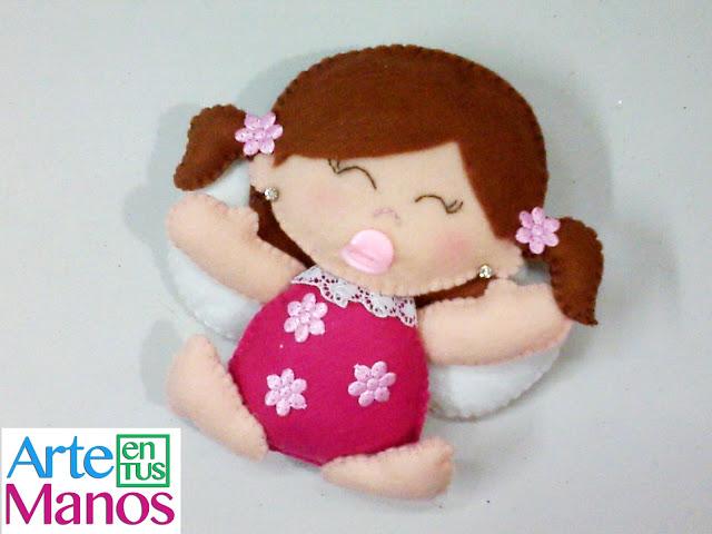 Hada Bebé hecha en Fieltro Paso a Paso