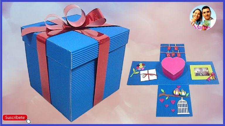 Caja sorpresa en cartón corrugado paso a paso