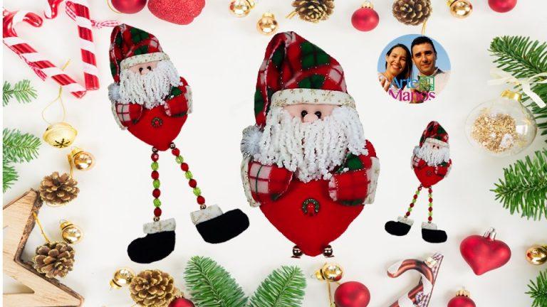 Santa Claus con piernas en piedras de bisutería