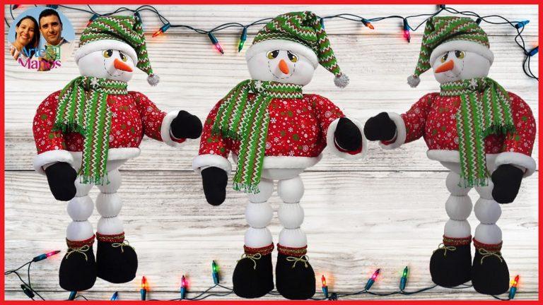 Muñeco de Nieve Grande 1.10 mt de altura Paso a paso detallado