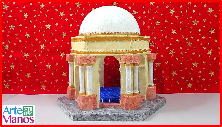 Bóveda Romana con Cúpula para Belenes paso a paso