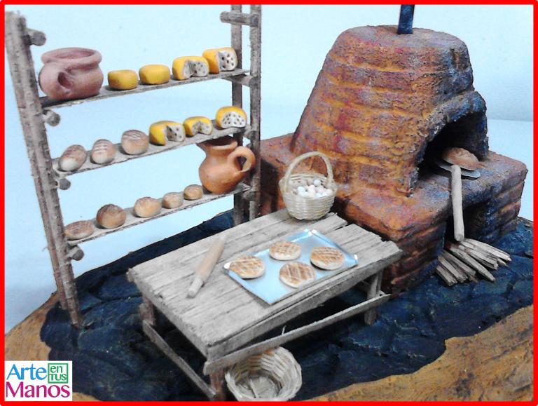 Cómo Hacer un Horno para Panadería en Icopor, para Belenes