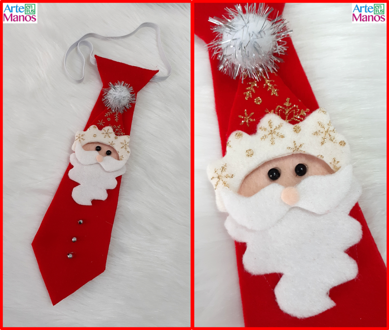 Cómo Hacer una Corbata Navideña con Santa Claus