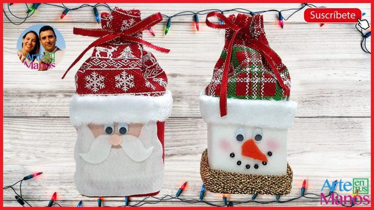 Cómo hacer dulceros de Santa y Muñeco de Nieve con Cajas recicladas