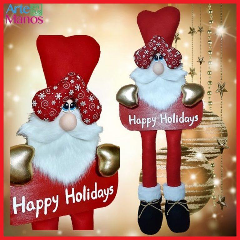 Cómo Hacer un Pendón Navideño con Santa Claus
