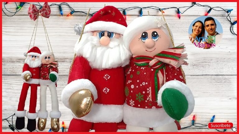 Cómo Hacer un Columpio Navideño con Santa y la Señora Claus
