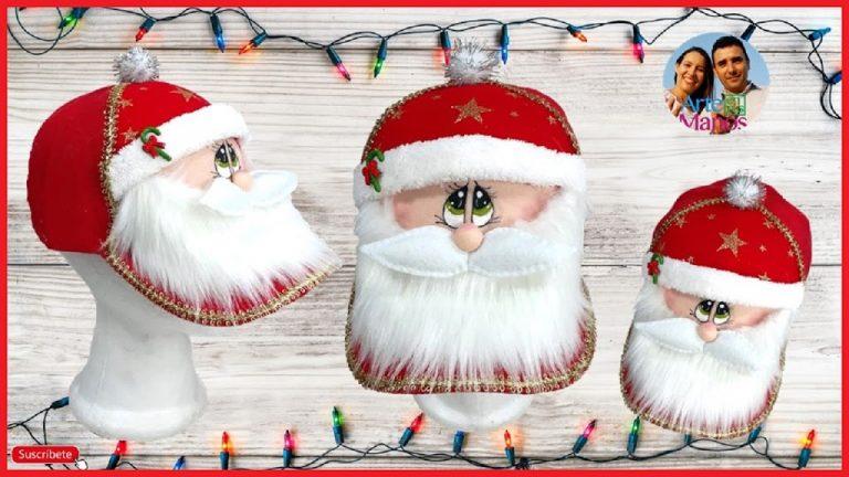 Cómo decorar gorras con Santa Claus para esta Navidad