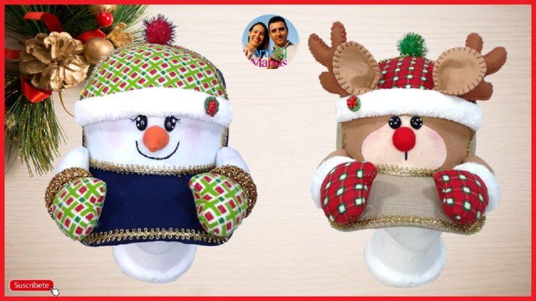 Cómo Decorar Gorras para Navidad con Renos y Nieves