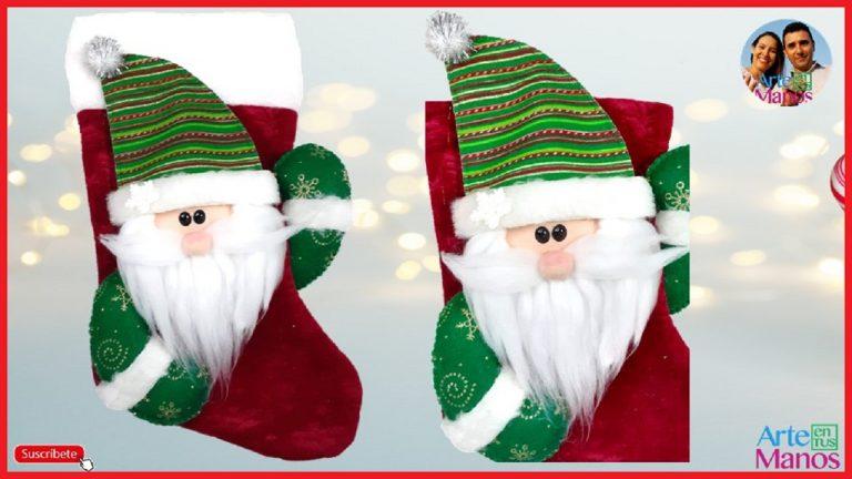 Decorar una Bota Navideña con Santa Claus
