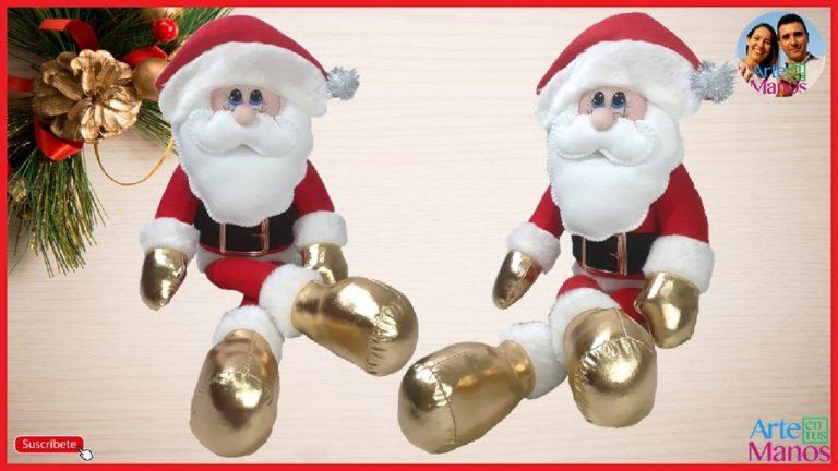 Santa Claus en Fieltro con Arte en Tus Manos