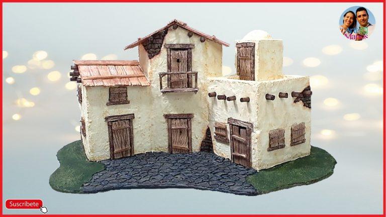 Cómo Hacer Casas para Belenes  en Icopor Paso a paso