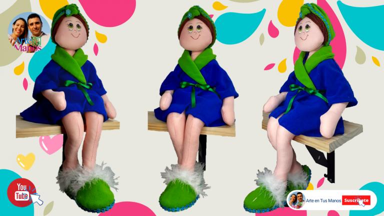 Muñeca de Trapo para Spa o Baño, Arte en Tus Manos