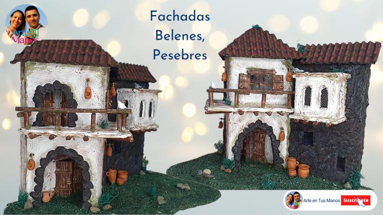 Casas, Fachadas para Belenes y Pesebres con Cartón