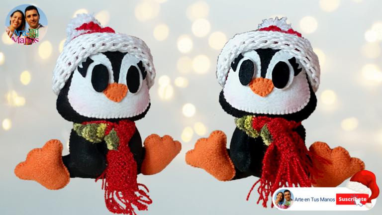 Pingüino Navideño, fácil con Arte en Tus Manos