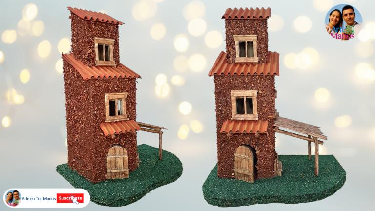 Casas para Pesebres, Belenes en Cartón