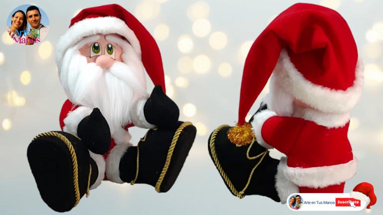 Santa Claus Sentado con Arte en Tus Manos
