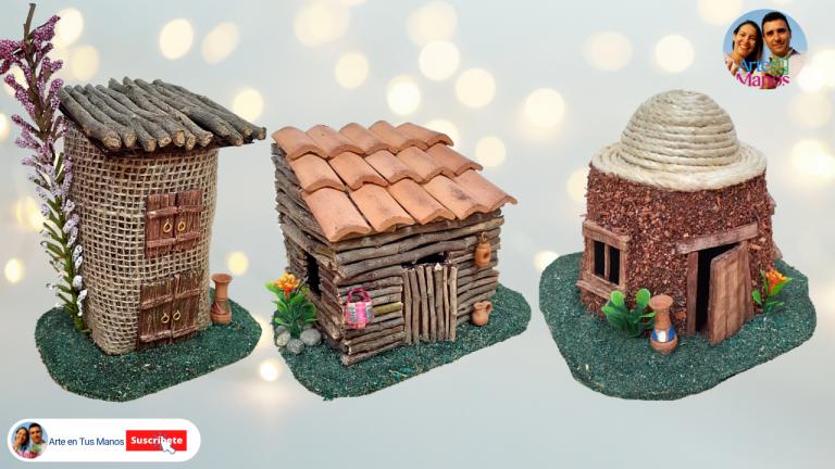 Tres Casas Fáciles Con Material Reciclado, para Pesebres | Ideas Arte en Tus Manos
