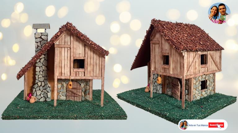 Casas en Cartón y Palitos | Casas Fáciles Con Arte en Tus Manos