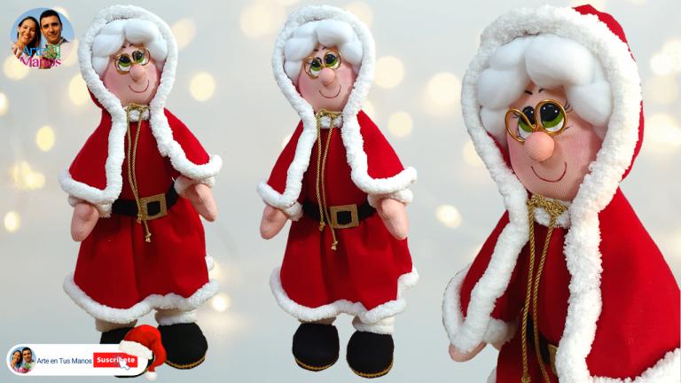 Señora Claus | Mamá Noel Con Arte en Tus Manos