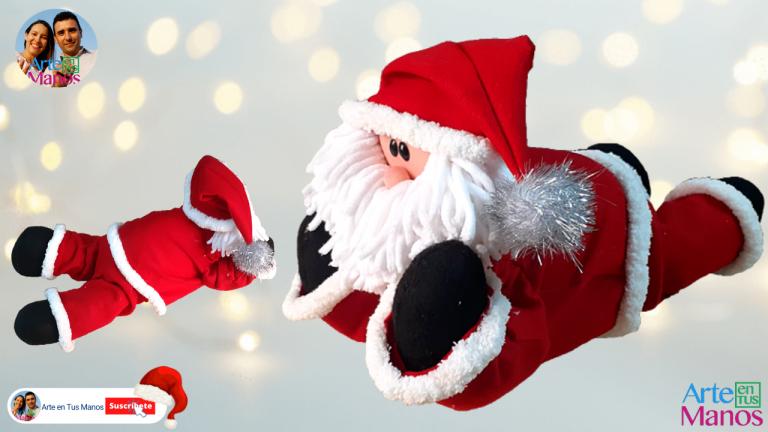 Santa Claus Acostado, Tutorial Con Arte en Tus Manos
