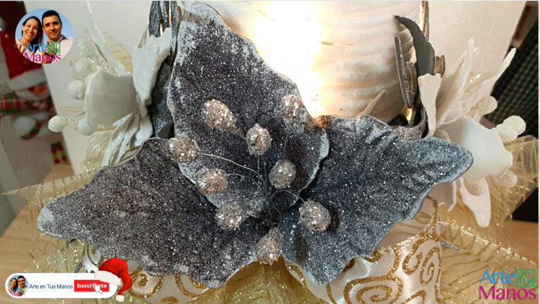 Flores Fáciles en Foami Para Decorar en Navidad, Con Arte en Tus Manos
