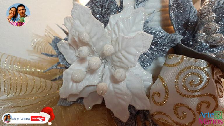 Flor de Navidad Fácil Con Arte en Tus Manos