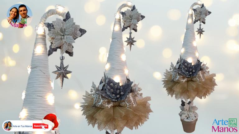 Árbol de Navidad Para Espacios Pequeños, Con Arte en Tus Manos